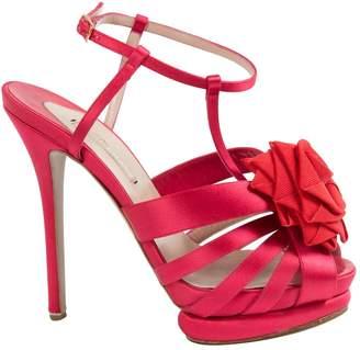 Nicholas Kirkwood Red Cloth Heels