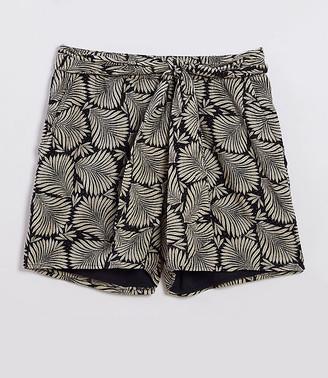 LOFT Beach Leafed Tie Waist Shorts