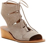 Lucky Brand Women's Gizi Ghillie Wedge