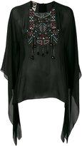 Roberto Cavalli Aztec batwing tunic - women - Silk - 38