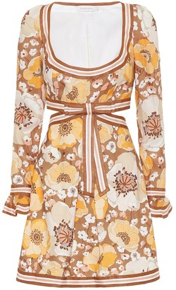 Zimmermann Super Eight floral linen minidress