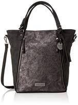 Marco Tozzi 61023, Women's Shoulder Bag, Schwarz (Black Comb), 40x36x12 cm (B x H T)