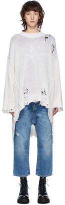 R 13 Off-White Cashmere Patti Sweater