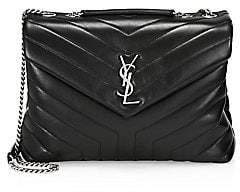 Saint Laurent Women's Medium Loulou Matelassé Leather Shoulder Bag