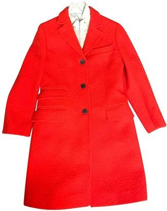 Fay Orange Wool Coat for Women