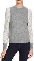 Rebecca Taylor Lace Sleeve Sweater