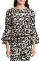 Alice + Olivia Baska Bell Sleeve Blouse