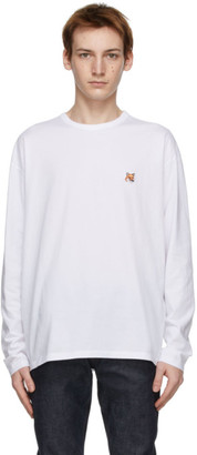 MAISON KITSUNÉ White Fox Head Regular Long Sleeve T-Shirt