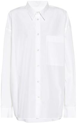 Ann Demeulemeester Oversized cotton poplin shirt
