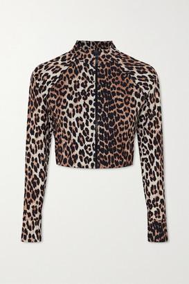 Ganni + Net Sustain Leopard-print Bikini Top - Leopard print