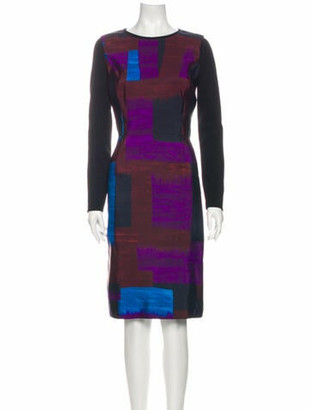 Oscar de la Renta 2012 Knee-Length Dress Purple