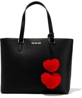 Love Moschino Pompom-embellished Faux Leather Tote