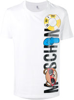 Moschino bear logo t-shirt - men - Cotton/Spandex/Elastane - XL