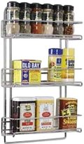 Neu Home 3-Tier Wall-Mounted Spice Rack, Chrome