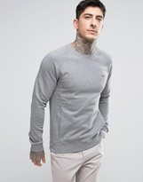 BOSS ORANGE by Hugo Boss Crew Neck Sweatshirt in Gray Marl