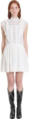 Isabel Marant Ianelia Dress In White Cotton