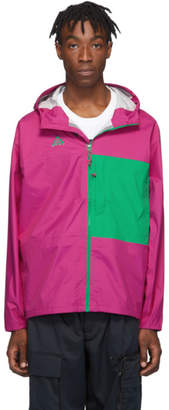 Nike Pink and Green ACG Packable Rain Jacket