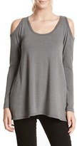 Karen Kane Women's High/low Hem Cold Shoulder Sweater