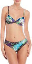 La Perla Sequin Trim Printed Underwire Bikini