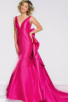 Jovani V Neckline Long Mermaid Prom Dress 41644