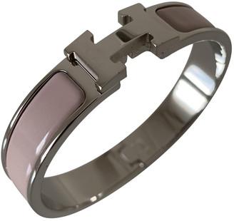 Hermã ̈S HermAs Clic H Pink Metal Bracelets