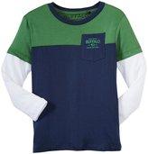 Buffalo Color Block Fooler Tee (Kid) - Green/Navy/White-4