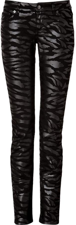 McQ Jeans in Black Tiger Stripe