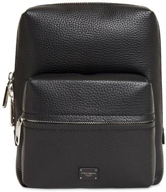 Dolce & Gabbana Logo Label Leather Backpack