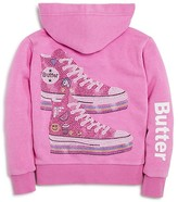 Butter Shoes Girls' Sneakers Hoodie - Sizes 4-6