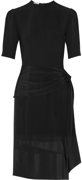 Miu Miu Cady and silk dress