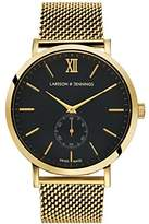 Larsson & Jennings Lugano Unisex-Adult Mechanical Watch, Analogue Classic Display and Stainless Steel Strap