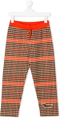 Mini Rodini Houndstooth-Print Track Trousers