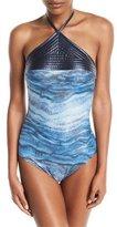 Gottex Ocean Mirage High-Neck One-Piece Swimsuit