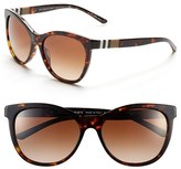 Burberry Women's 58Mm Check Detail Sunglasses - Dark Tortoise