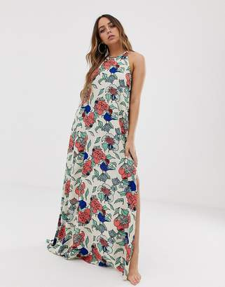Tavik maxi beach dress in all over floral print-Multi