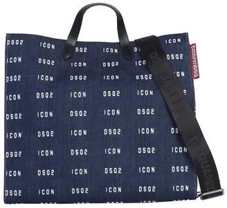 DSQUARED2 Icon Print Shopper Bag