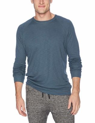 Velvet by Graham & Spencer Men's Daryl Long Sleeve Raglan Shirt in Triblend Double Fold