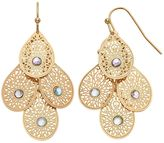 Lauren Conrad Filigree Teardrop Kite Earrings