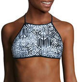 Arizona Mix & Match Stripe Halter Swimsuit Top-Juniors