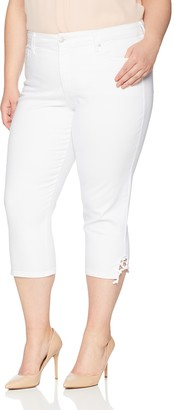 NYDJ Women's Plus Size Capri with Lace-up Hem