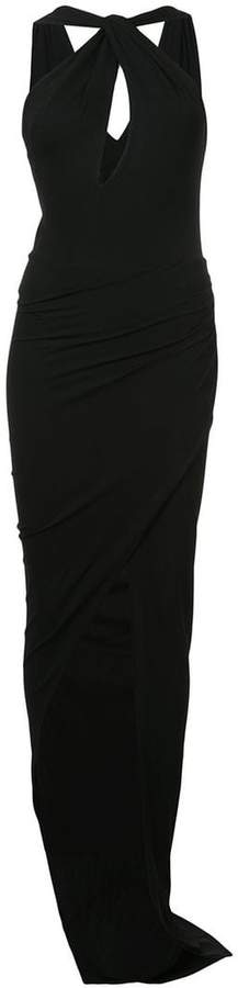Alexandre Vauthier keyhole front fitted dress