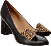 French Sole Teresa Leather & Haircalf Pump