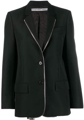 Alexander Wang zip detail blazer