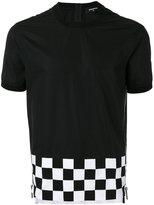 DSQUARED2 checked trim T-shirt - men - Cotton - 46