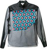 DELPOZO geometric panel blouse