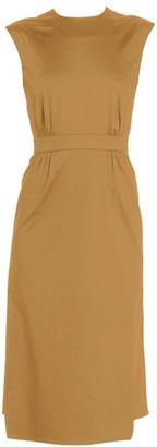 Prada Sleeveless Wrap Pencil Dress