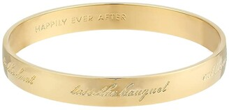 Kate Spade Bride Idiom Bangle (Gold) Bracelet