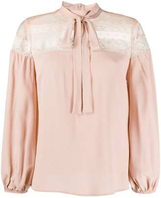 RED Valentino Lace-Panel Blouse