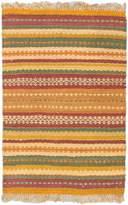 Ecarpetgallery Hand-woven Antique Palas Stripe patterns 4' x 6' 100% Jute area rug