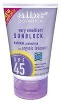 Alba Botanica Organic Lavender Suncreen - SPF 45